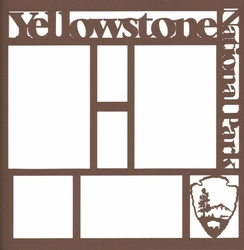 2SYT National Parks: Yellowstone 12 x 12 Overlay Laser Die Cut