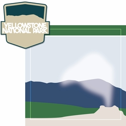 2SYT National Parks: Yellowstone 2 Piece Laser Die Cut Kit
