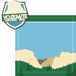 National Parks: Yosemite 2 Piece Laser Die Cut Kit