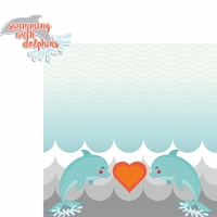 Nautical: Swimming With Dolphins 2 Piece Laser Die Cut Kit