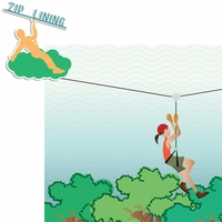 Nautical: Ziplining 2 Piece Laser Die Cut Kit