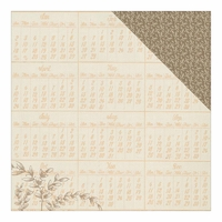Nestled: Prepared Annual Calendar/Leaf Pattern 12 x 12 Double-Sided Cardstock