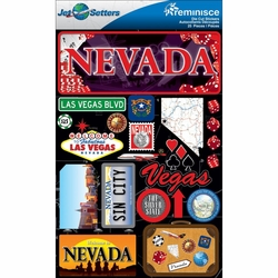 Nevada Jet Setters Dimensional Stickers