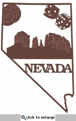 Nevada Outline With Images Laser Die Cut