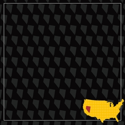 Nevada Travels: NV label 12 x 12 Paper