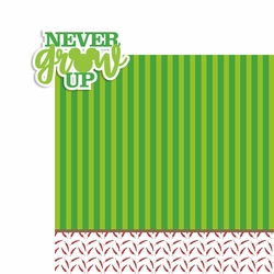 Never Grow Up 2 Piece Laser Die Cut Kit