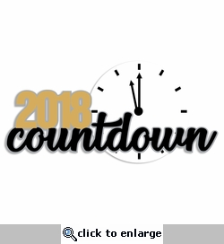 New Year: 2018 Countdown Laser Die Cut