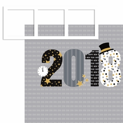 New Year: 2018 Frames 2 Piece Laser Die Cut Kit
