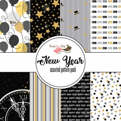 New Year Assorted 12 x 12 Paper Pack