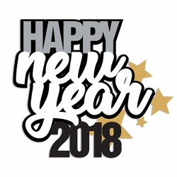 New Year: New Year 2018 Laser Die Cut