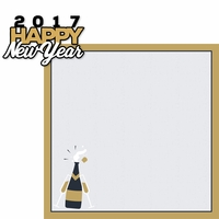 New Years 2017: Happy New Year 2 Piece Laser Die Cut Kit