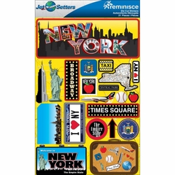 New York Jet Setters Dimensional Stickers
