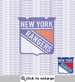 NHL Fanatic: New York Rangers 12 x 12 Paper