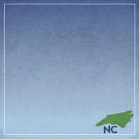 North Carolina Travels: NC map 12 x 12 Paper