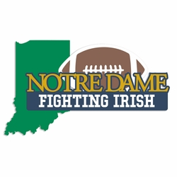 Notre Dame: Fighting Irish Laser Die Cut
