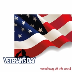 November: Veteran's Day 2 Piece Laser Die Cut Kit