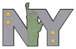 NY Liberty Laser Die Cut