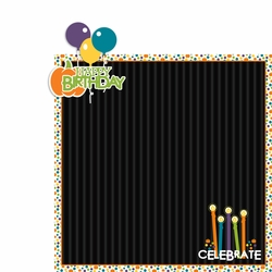 October: Happy Birthday 2 Piece Laser Die Cut Kit