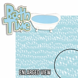 Oh Baby!: Bath Time Blue 2 Piece Laser Die Cut Kit