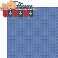 Oh La La: France Banner 2 Piece Laser Die Cut Kit