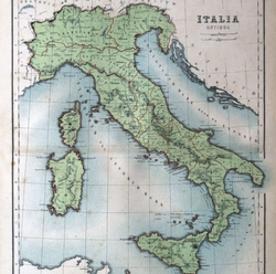 Old Italy Map 12 x 12 Paper