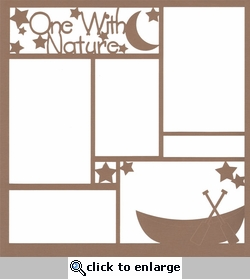 One With Nature: Canoe 12 x 12 Overlay Laser Die Cut