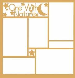 2SYT One With Nature Title 12 x 12 Overlay Laser Die Cut