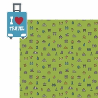 Open Road: I Love Travel 2 Piece Laser Die Cut Kit