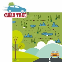 Open Road: Road Trip 2 Piece Laser Die Cut Kit
