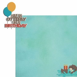 Otter: Great Birthday 2 Piece Laser Die Cut Kit
