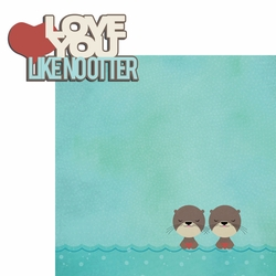 Otter: Love You 2 Piece Laser Die Cut Kit