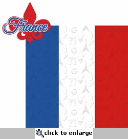 Oui Oui: France 2 Piece Laser Die Cut Kit