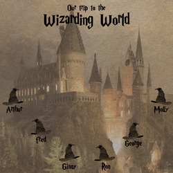 Our Trip to the Wizarding World Custom 12 x 12 Paper