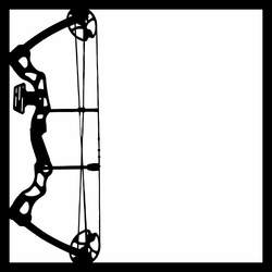 Outdoorsman: Compound Bow 12 x 12 Overlay Laser Die Cut