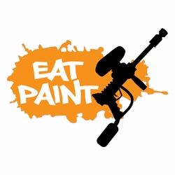 Paintball: Eat Paint Laser Die Cut
