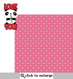 Panda: Love You 2 Piece Laser Die Cut Kit