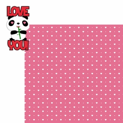 2SYT Panda: Love You 2 Piece Laser Die Cut Kit