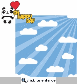 1SYT Panda: Oh Happy Day 2 Piece Laser Die Cut Kit