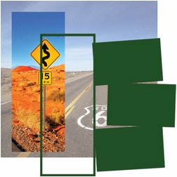 Panorama: Desert Road Sign Frame Kit