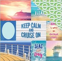 Paradise Found: Cruise Tag 12 x 12 Double Sided Cardstock