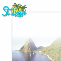 Paradise Found: St Lucia 2 Piece Laser Die Cut Kit