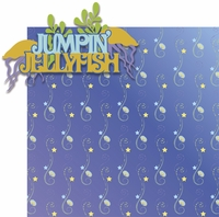 Paradise Pier:Jumpin' Jellyfish 2 Piece Laser Die Cut Kit