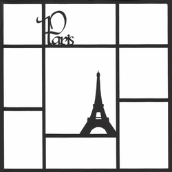 Paris 12 x 12 Photo Overlay Laser Die Cut