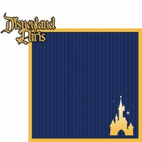 Paris: Disneyland Paris 2 Piece Laser Die Cut Kit