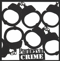 Partners In Crime 12 x 12 Overlay Laser Die Cut
