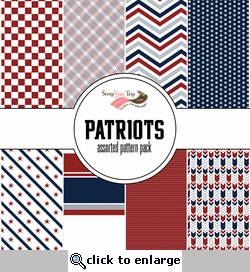 Patriots Assorted 12 x 12 Paper Pack