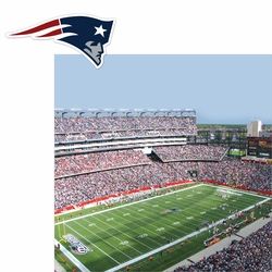 Patriots: Stadium and Logo 2 Piece Laser Die Cut Kit