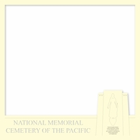 Pearl Harbor: National Cemetary of the Pacific 12 x 12 Overlay Laser Die Cut
