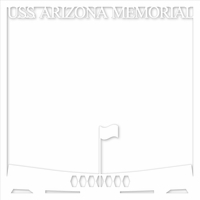 Pearl Harbor: U.S.S. Arizona Memorial 12 x 12 Overlay Laser Die Cut