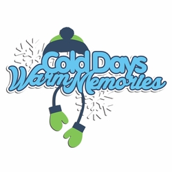 1SYT Penguin: Cold Days Warm Memories Laser Die Cut